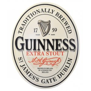 BUY GUINNESS 3D OVAL ENGLISH LABEL WALL ART IN WHOLESALE ONLINE