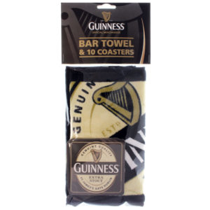 BUY GUINNESS CONTEMPORARY BAR TOWEL COASTER PACK IN WHOLESALE ONLINE