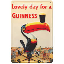 BUY GUINNESS TOUCAN LOVELY DAY FOR A GUINNESS METAL SIGN IN WHOLESALE ONLINE