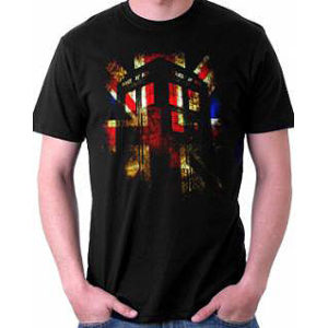 BUY DOCTOR WHO UNION JACK TARDIS T-SHIRT IN WHOLESALE ONLINE