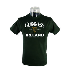 BUY GUINNESS GREEN IRELAND HARP T-SHIRT IN WHOLESALE ONLINE