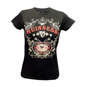 BUY GUINNESS BLACK BUTTERFLY LADIES T-SHIRT IN WHOLESALE ONLINE