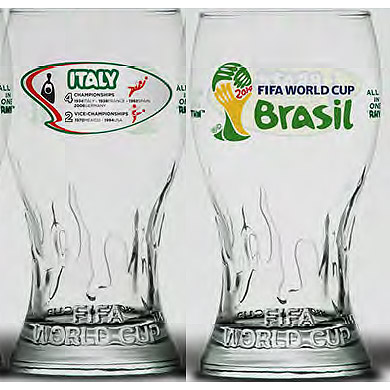 BUY ITALIAN FOOTBALL FEDERATION WORLD CUP PINT GLASS IN WHOLESALE ONLINE
