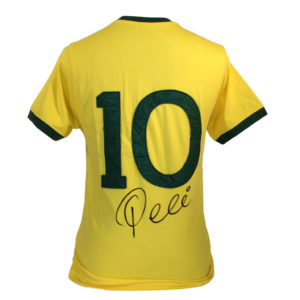BUY AUTHENTIC SIGNED PELE BRAZIL SHIRT IN WHOLESALE ONLINE