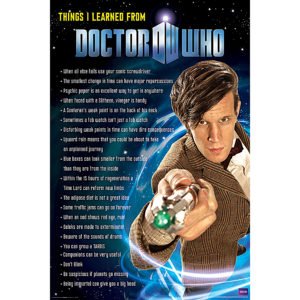 BUY DOCTOR WHO THINGS I'VE LEARNED POSTER IN WHOLESALE ONLINE