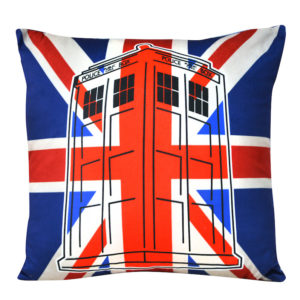 BUY DOCTOR WHO SQUARE UNION JACK TARDIS CUSHION IN WHOLESALE ONLINE