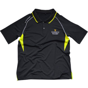 BUY GUINNESS BLACK YELLOW PERFORMANCE RUGBY POLO IN WHOLESALE ONLINE