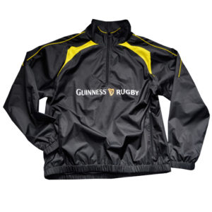 BUY GUINNESS BLACK YELLOW PERFORMANCE RUGBY ZIP JACKET IN WHOLESALE ONLINE