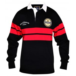 BUY GUINNESS BLACK RED RUGBY SHIRT IN WHOLESALE