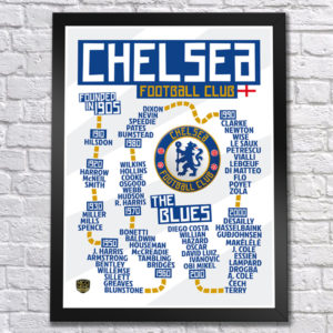 BUY CHELSEA TIMELINE POSTER IN WHOLESALE ONLINE