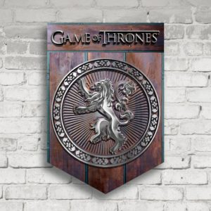 BUY GAME OF THRONES WOOD METAL LANNISTER CREST IN WHOLESALE ONLINE