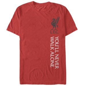 BUY LIVERPOOL RED YOU'LL NEVER WALK ALONE COTTON T-SHIRT IN WHOLESALE ONLINE