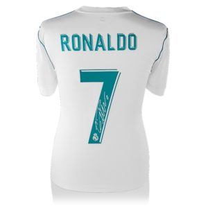 BUY AUTHENTIC SIGNED CRISTIANO RONALDO 2017-18 REAL MADRID JERSEY IN WHOLESALE ONLINE