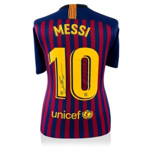 BUY AUTHENTIC SIGNED LIONEL MESSI 2018-19 BARCELONA SHIRT IN WHOLESALE ONLINE