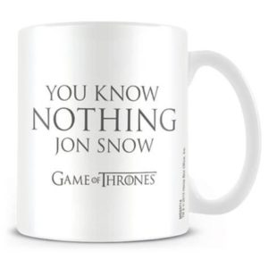 BUY GAME OF THRONES YOU KNOW NOTHING JON SNOW MUG IN WHOLESALE ONLINE