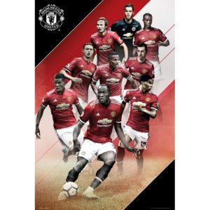 BUY MANCHESTER UNITED 2017-18 PLAYERS COLLAGE POSTER IN WHOLESALE ONLINE