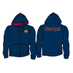 BUY BARCELONA NAVY ZIP-UP HOODIE IN WHOLESALE ONLINE