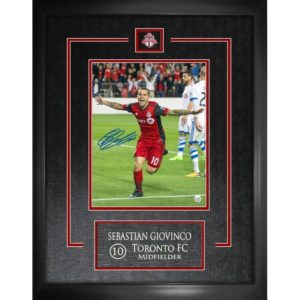 BUY AUTHENTIC SIGNED SEBASTIAN GIOVINCO TORONTO FC FRAMED PHOTO IN WHOLESALE ONLINE