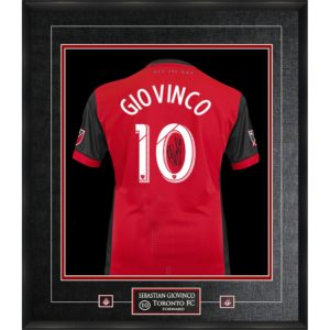 BUY AUTHENTIC SIGNED SEBASTIAN GIOVINCO FRAMED TORONTO FC JERSEY IN WHOLESALE ONLINE