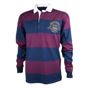 BUY GUINNESS WINE NAVY STRIPED RUGBY JERSEY IN WHOLESALE ONLINE