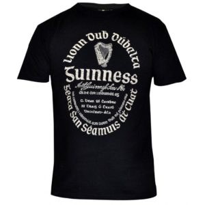 BUY GUINNESS DISTRESSED GAELIC LABEL T-SHIRT IN WHOLESALE ONLINE!
