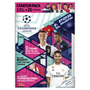 BUY 2018-19 TOPPS CHAMPIONS LEAGUE STICKERS STARTER PACK IN WHOLESALE ONLINE