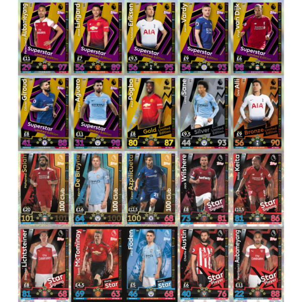 BUY 2018-19 TOPPS MATCH ATTAX EPL CARDS IN WHOLESALE ONLINE