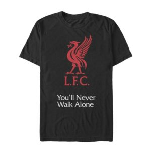 BUY LIVERPOOL BLACK YOU'LL NEVER WALK ALONE COTTON T-SHIRT IN WHOLESALE ONLINE