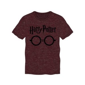 BUY HARRY POTTER BURGUNDY HEATHERED GLASSES T-SHIRT IN WHOLESALE ONLINE
