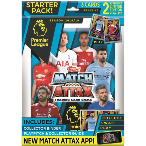 BUY 2018-19 TOPPS MATCH ATTAX EPL CARDS STARTER PACK IN WHOLESALE ONLINE