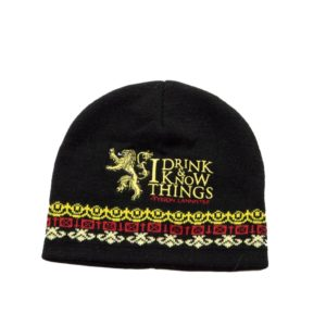 BUY GAME OF THRONES TYRION I DRINK AND I KNOW THINGS BEANIE IN WHOLESALE ONLINE