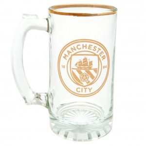 BUY MANCHESTER CITY FOIL STEIN PINT GLASS IN WHOLESALE ONLINE