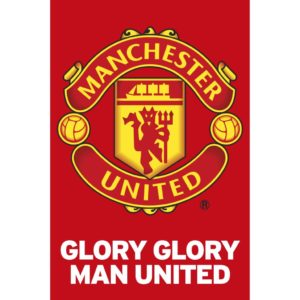 BUY MANCHESTER UNITED GLORY GLORY TEAM CREST POSTER IN WHOLESALE ONLINE