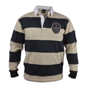 BUY GUINNESS CREAM BLACK STRIPED RUGBY JERSEY IN WHOLESALE ONLINE