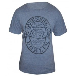 BUY GUINNESS GREY HEATHERED LABEL T-SHIRT IN WHOLESALE ONLINE