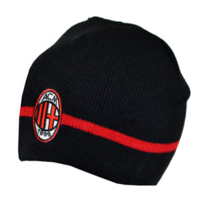 BUY AC MILAN BLACK KNITTED BEANIE IN WHOLESALE ONLINE