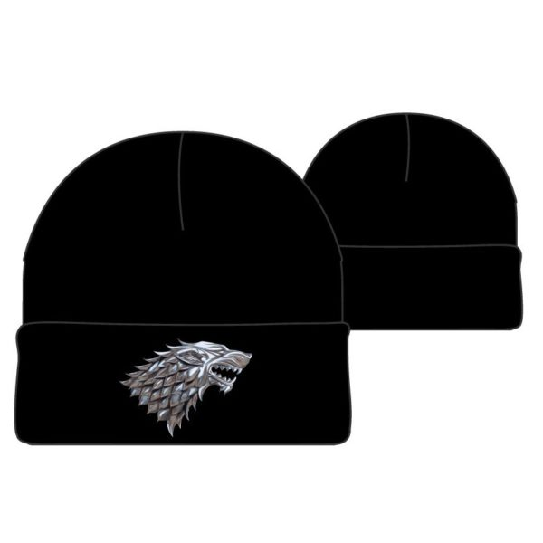 BUY GAME OF THRONES STARK METAL BADGE BEANIE IN WHOLESALE ONLINE