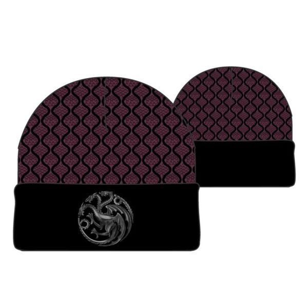 BUY GAME OF THRONES TARGARYEN METAL BADGE BEANIE IN WHOLESALE ONLINE