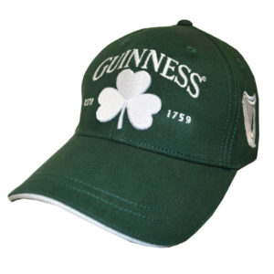 BUY GUINNESS GREEN WHITE SHAMROCK BASEBALL HAT IN WHOLESALE ONLINE