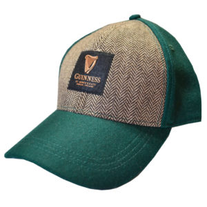 BUY GUINNESS GREEN EMBOSSED TWEED BASEBALL HAT IN WHOLESALE ONLINE!