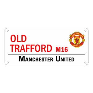 BUY MANCHESTER UNITED WHITE OLD TRAFFORD STREET SIGN IN WHOLESALE ONLINE!