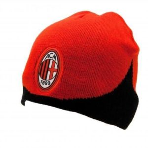 BUY AC MILAN RED KNITTED BEANIE IN WHOLESALE ONLINE!