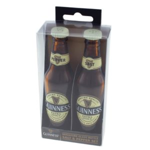 BUY GUINNESS GLASS BOTTLE SALT PEPPER SET IN WHOLESALE ONLINE