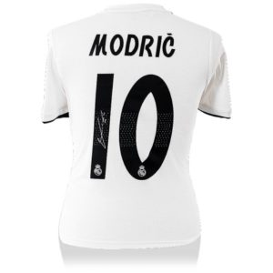 BUY AUTHENTIC SIGNED LUKA MODRIC 2018-19 REAL MADRID JERSEY IN WHOLESALE ONLINE