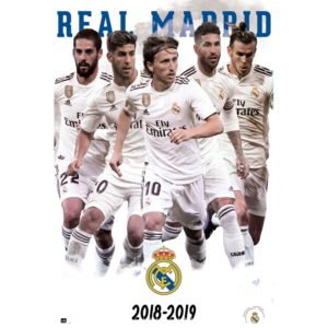 BUY REAL MADRID 2018-19 PLAYERS COLLAGE POSTER IN WHOLESALE ONLINE