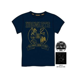 BUY HARRY POTTER GOLD METALLIC HOGWARTS YOUTH T-SHIRT IN WHOLESALE ONLINE