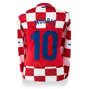 BUY AUTHENTIC SIGNED LUKA MODRIC 2010 CROATIA JERSEY IN WHOLESALE ONLINE