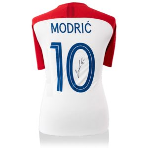 BUY AUTHENTIC SIGNED LUKA MODRIC 2017-18 CROATIA JERSEY IN WHOLESALE ONLINE