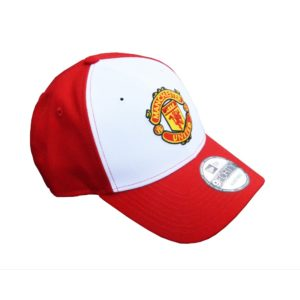 BUY MANCHESTER UNITED RED WHITE NEW ERA 9FORTY BASEBALL HAT IN WHOLESALE ONLINE