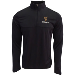 BUY GUINNESS HARP UNI-SEX 1/4 ZIP PERFORMANCE TOP IN WHOLESALE ONLINE